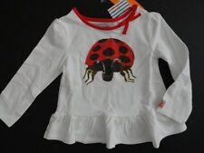 NWT Gymboree 2T The World of Eric Carle Ladybug Peplum Top Long Sleeve White