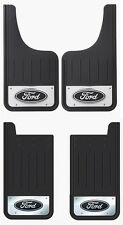 4PK Front Rear Ford Oval Logo Heavy Duty Stainless Steel Mud Flaps for Trucks