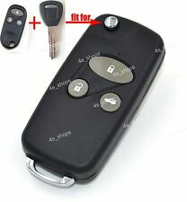 3 Buttons Flip Folding Refit Remote Key Case Upgrade Shell For 2001 Honda Accord