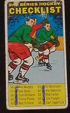 1964/65 - TOPPS - TALL BOY - CHECKLIST - HOCKEY CARD #55