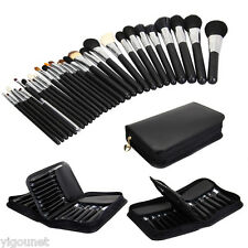 29 PCS professional high quality Goat Hair Makeup Brush set +black leather case