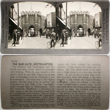 Keystone Stereoview the Bar Gate in Southampton, ENGLAND From RARE 1200 Card Set
