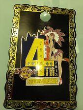 Hard Rock Cafe 2013 Las Vegas Strip 4th Anniversary Sexy Show Girl Yellow 4 Pin