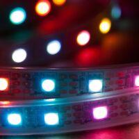 1m 60LEDs/m RGB LED Light Strip 5V WS2812B IP68 Waterproof Addressable WS2811 US