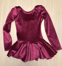 Mondor Pink/Fucia Shiny Ice Skating Dress 6X-7
