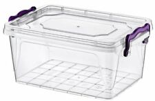 Rectangle Storage Box With Lid Handle 3L Clip lock Plastic Clear Food Container