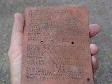 Roman Military Diploma molded from an original pair Legion Auxiliary army armor