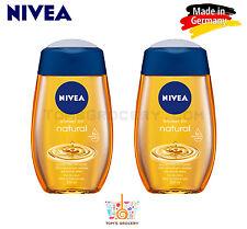 2 x NIVEA Natural Pampering Shower Oil For Dry Skin 200ml 6.7 fl. oz