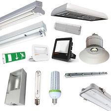 Warehouse DEL Lighting T8 Fluorescent Fittings, LowBay, HighBay, Floodlights etc