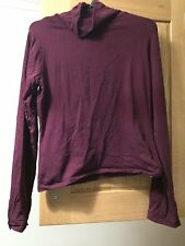 Peacoks Miss E.vie Teens Kids Plum Polo Neck Long Sleeve Cropped Top 13-14 Years