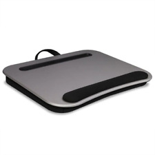 Deluxe Media Lap Desk - Cushioned, Stable, Stay Cool, Wrist Pad, Handle, Sturdy