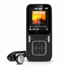 AGPtEK B03 MP3 Player Lossless Sound 8GB FM Radio Voice Recorder Micro SD Slot