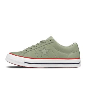 Converse Unisex Chuck Taylor One Star Ox Surplus Sage Green Leather Trainers
