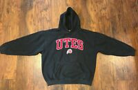 Black Utah UTES Football Hoodie Unisex Men's XL Black Red White