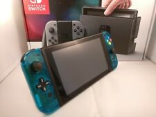Personalizado Transparente Atómico Azul Nintendo Interruptor Consola & Joycons (