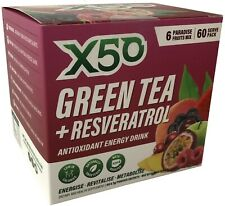 X50 Green Tea + Resveratrol Antioxident Energy Drink (Assorted Mix) 60 Serve