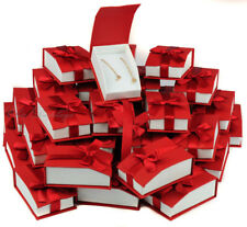 LOT 36 EARRING / PENDANT BOX RED PENDANT BOX MAGNETIC RIBBON JEWELRY GIFT BOX