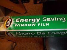 GILA ENERGY SAVING WINDOW FILM BLOCK OUT HEAT & GLARE 3' X 6.5 PEEL & CLING