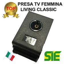 Bticino PRESA TV TERMINALE FEMMINA LIVING CLASSIC COASSIALE COAX