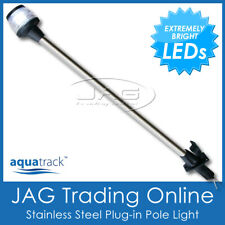 12V 36-LED STAINLESS STEEL PLUG-IN POLE LIGHT - Navigation Stern/Anchor/Boat SS