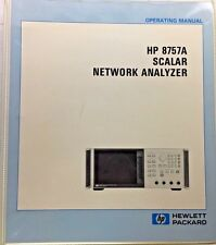 HP 8757A Scalar Network Analyzer Operating Manual P/N 08757-90065