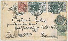 ITALIA REGNO - STORIA POSTALE  - BUSTA ESPRESSO con affrancatura in eccesso 1926