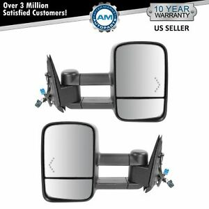 Towing Mirrors Power Heated Signal for 03-06 Chevy Silverado 1500/2500/HD/3500
