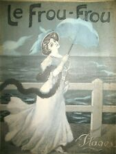 REVUE LE FROU-FROU N° 356 PLAGES DESSINS COUV. TESTEVUIDE ABEILLé RIEZER 1907
