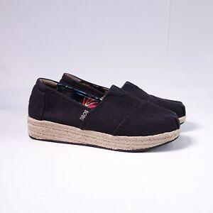 Skechers Bobs Women's Bob Wedge Shoes Memory Foam 34101/BLK Black