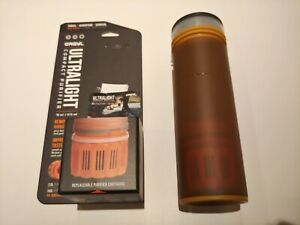 """NEW GRAYL 16 oz Ultralight Water Purifier Filter FREE SHIP """"Coyote Amber"""" color"""