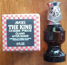 Vintage Avon The King Chess Piece Oland After Shave