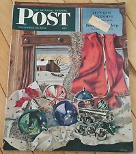 SATURDAY EVENING POST DECEMBER 18 1943 BUZZIN JOHNNY CHRISTMAS UNCLE SAM