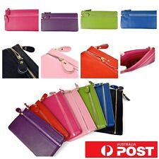 Colourful Cowhide Cow Leather Card Note Cash Purse Case Wallet Zipper Clutch