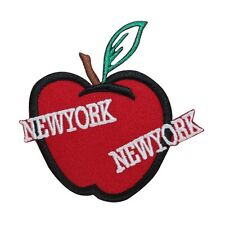 ID 1899 New York Big Apple Patch Travel Souvenir Embroidered Iron On Applique