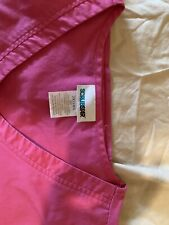 scrubstar womens pink scrub top size 2xl