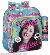 SOY LUNA BE FREE Mochila Junior adaptable a carro + estuche // Junior Rucksack