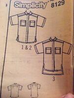 Misses Sizes Multi size 10 12 14 Blouse Shirt Dressmaking Sewing Pattern CLASSIC
