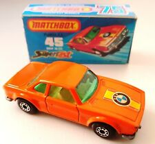 Vintage 1976 MATCHBOX Series 45 BMW 3.0 CSL Diecast Model & Custom Display Box