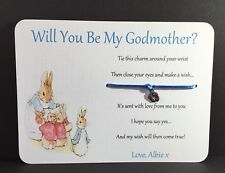 Will You Be My Godmother Card Godfather,  Personalised Peter Rabbit, godparent