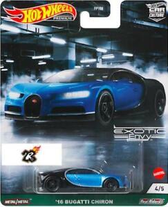 16 Bugatti Chiron HOT WHEELS 2021 CAR CULTURE CAR CULTURE EXOTIC ENVY - 4/5
