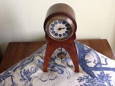 Art Nouveau Barrel Mantel Clock,Walnut, Hamburg American Clock Co. c 1895-1900