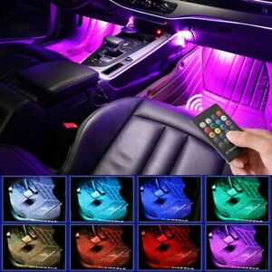 Car Interior LED Colorful Atmosphere Ambient Foot Mood Light Lamp Accessories