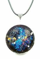 pendant Necklace Orgone Orgonite pendant Constellation Cassiopeia, stones reiki