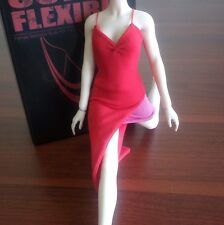 "1/6 Resident Evil Red Women Female Dress Vest Skirt Clothes Suits F 12"" Figure"