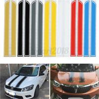 Universal 130x24 Cm Auto Strisce Adesive Fasce Cofano Decalcomania Vinyl Diy /