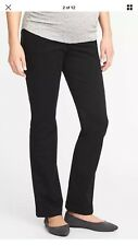 OLD NAVY MATERNITY JEANS  FULL PANEL BOOT CUT STRETCH SIZE M, NWT!