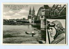 DP297/ Köln Kunstflieger H.J. v. Hippel Flugzeug ca.1955 Rückseite Unterschrift