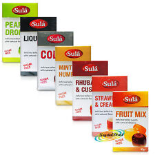 Sula Natural Flavours Sugar Free Sweetener Hard Boiled Sweets Selection 7x42g
