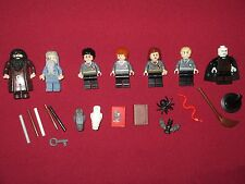 LEGO Harry Potter Minifigures LOT Voldemort,Dumbledore,Ron,Hagrid,Harry,Draco