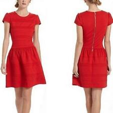*GIRLS FROM SAVOY* ANTHROPOLOGIE Darling Ponte SHort Sleeve Red Dress 0 Holiday